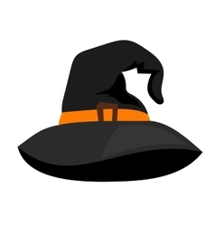 Witch hat or sorceress cap halloween vector image