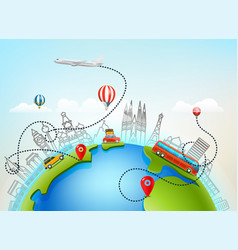world travel color vector image