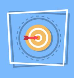 arrow in target icon goal web button vector image vector image