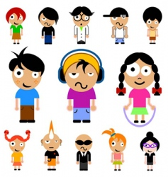 cartoon kid vector image