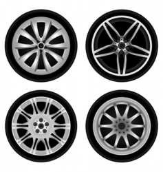 chrome wheel vector image vector image