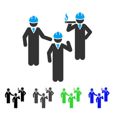 Engineer persons discussion flat icon vector