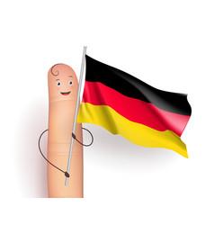 germany flag waving vector image