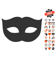 privacy mask icon with lovely bonus vector image