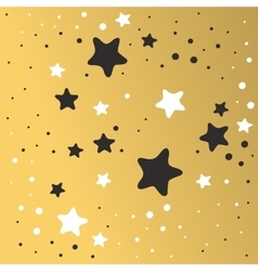 Abstract Xmas golden star background design vector image vector image
