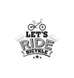 bicycle riding emblem vector image vector image