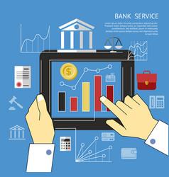 digital blue business vector image