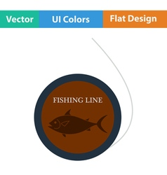 Flat design icon of fishing line vector image vector image