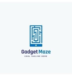 Gadget Maze Abstract Sign Emblem or Logo vector image