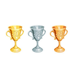 gold bronze silver champion vector image vector image