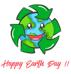 happy earth day design collection vector image vector image