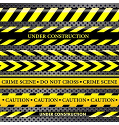 Set of danger and police lines vector image vector image
