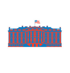 white house america colored icon residence of vector image