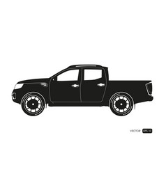 black silhouette of suv drawing of car vector image vector image