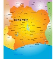 Cote d Ivoire map vector image vector image