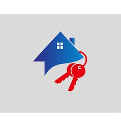 house and key selling and renting vector image