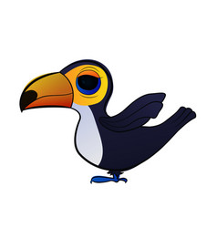 cartoon bird toucan vector image