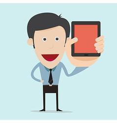 cartoon show blank mobile device vector image