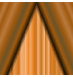Cinema Closed Orange Curtain vector image vector image