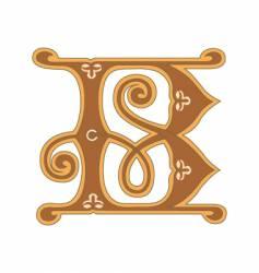 golden letter b vector image vector image