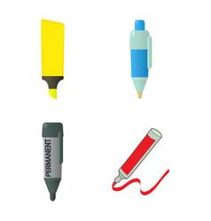marker icon set cartoon style vector image