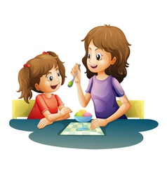 mom and kid vector image vector image