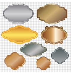 set of framed labels vector image