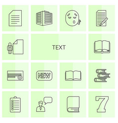 14 text icons vector image