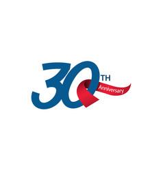 30 th anniversary template design vector
