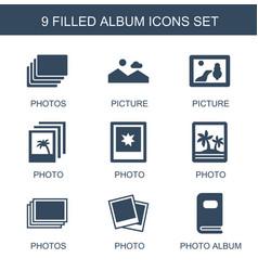 9 album icons vector