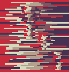 abstract background pattern in glitch style vector image