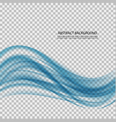abstract blue wave on transparent background vector image