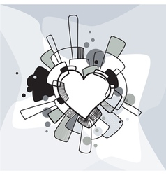 Abstract decorative heart vector