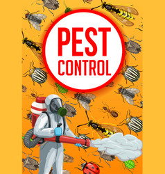 Agricultural pest control insects extermination vector