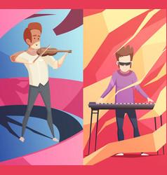 Art professions vertical banners set vector