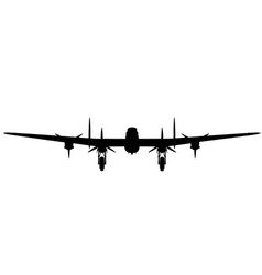 Avro lancaster i front elevation vector