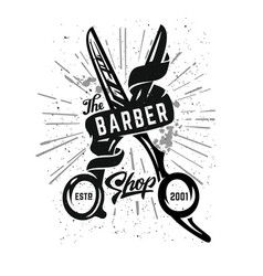 Barbershop logo icon vector