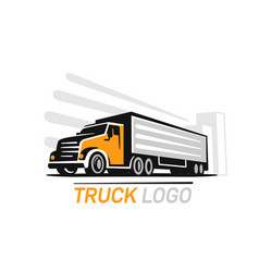 big truck color logo template for you design vector image