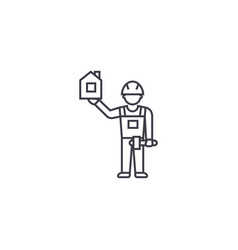 Birdhouse maker line icon sign vector