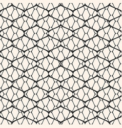 black and white mesh seamless pattern vector image