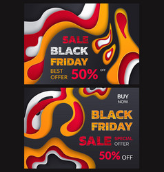 black friday 50 percent price abstract posters vector image
