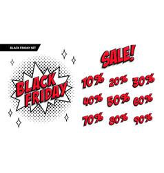 black friday sale set black friday and sale vector image