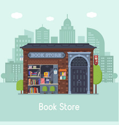 Book shop concept banner vector