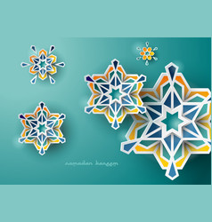 Celebration greeting ramadan islamic design vector