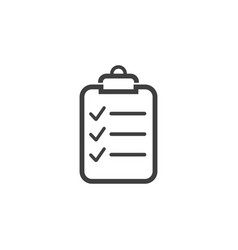 checklist clipboard icon graphic design template vector image