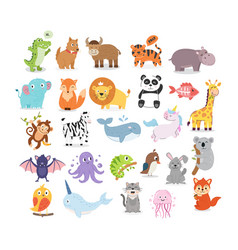 collection animal vector image