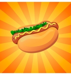 Color hot dog vector