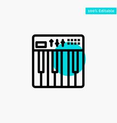 Controller hardware keyboard midi music turquoise vector