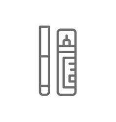 Corrector concealer eyeliner marker line icon vector