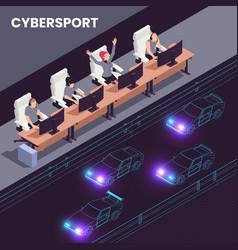Cyber sport isometric design vector